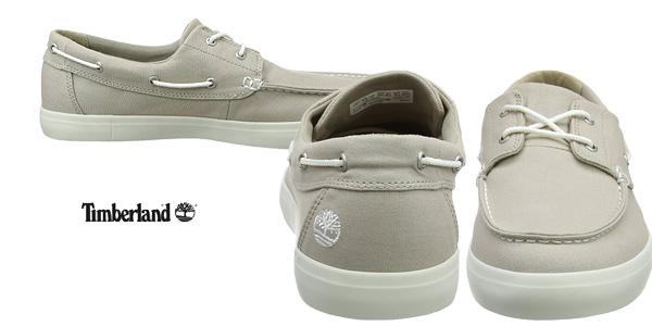Mocasines Timberland Newport Bay 2-Eye Canvas en color marrón chollazo en Amazon