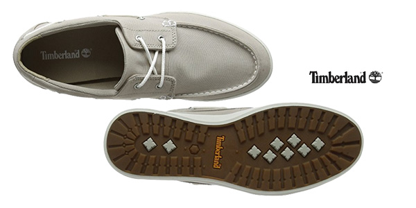 Mocasines Timberland Newport Bay 2-Eye Canvas en color marrón chollo en Amazon