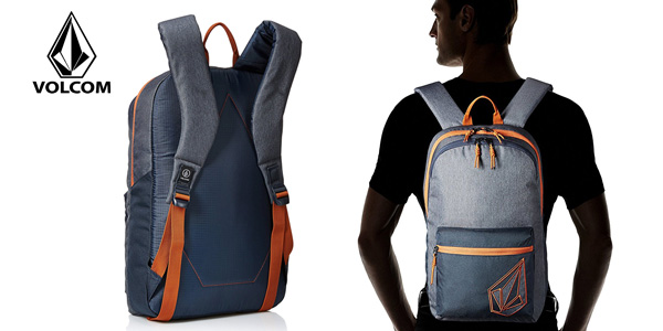 Mochila Volcom Academy en color azul marino chollo en Amazon