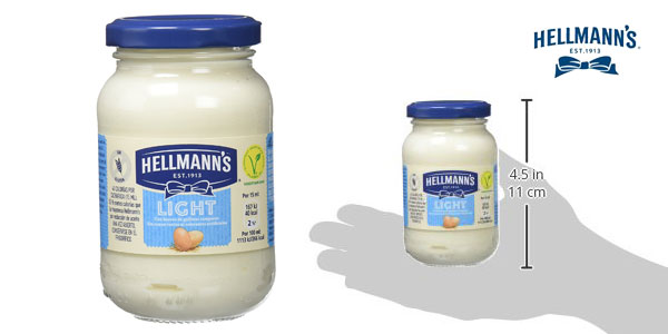 Pack de 12 botes de mayonesa Light Hellmann's (225gr/ud) chollo en Amazon