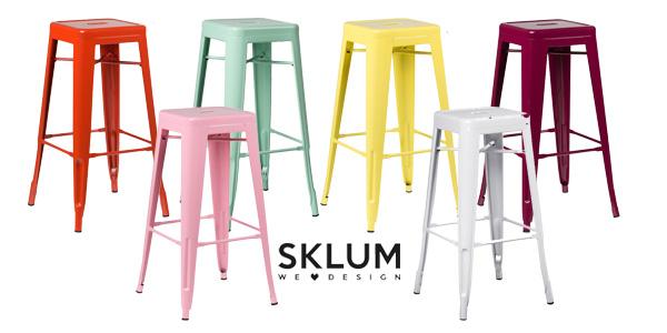 Pack de 2 taburetes altosLix de Sklum de diseño industrial retro en muchos colores chollazo en eBay