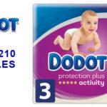 Pack de 210 pañales Dodot Protection Plus Activity Pañales Talla 3 (6-10 kg) barato en Amazon