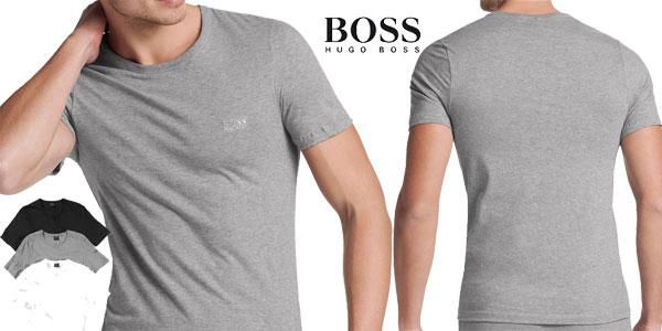Pack de 3 Camisetas Hugo Boss Tagless crew neck baratas en Amazon