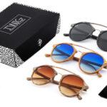 Pack 3 Gafas de sol unisex Manet efecto madera de Twig Concept Milano barato en eBay