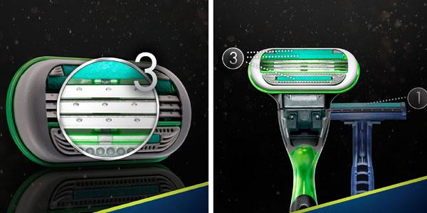 Pack de 4 Recambios Gillette Body cuchillas para depilar para hombre chollo en Amazon