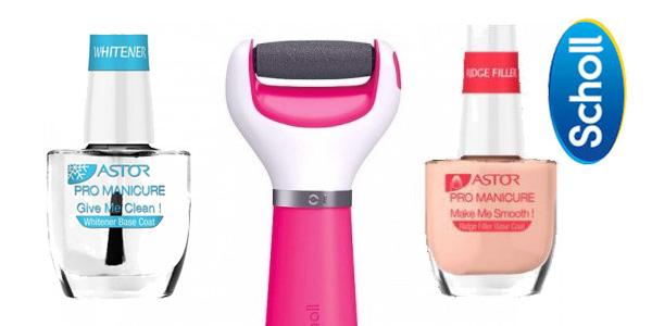 Pack Lima Electrónica de pies Dr Scholl en color rosa y con 2 pintauñas chollo en Amazon