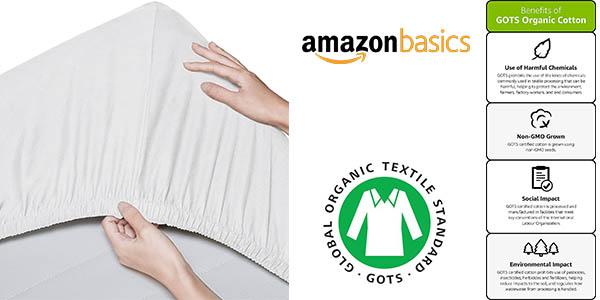 pack sábanas bajeras para cuna AmazonBasics baratas