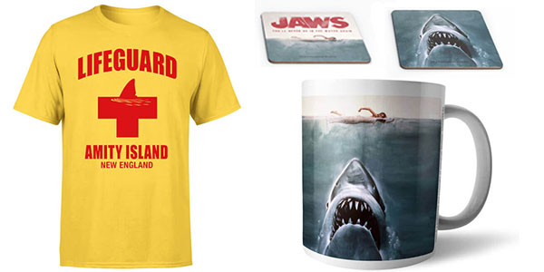 Pack Tiburón (camiseta + taza + posavasos) barato