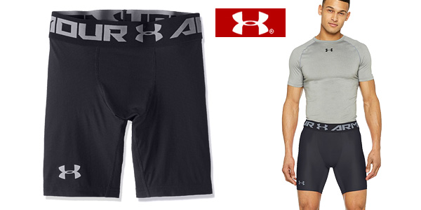 Pantalones cortos de compresión Under Armour HG 2.0 Comp Short en color negro para hombre chollo en Amazon