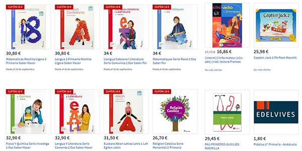 promoción libros de texto de primaria y secundaria en Carrefour curso 2018-19