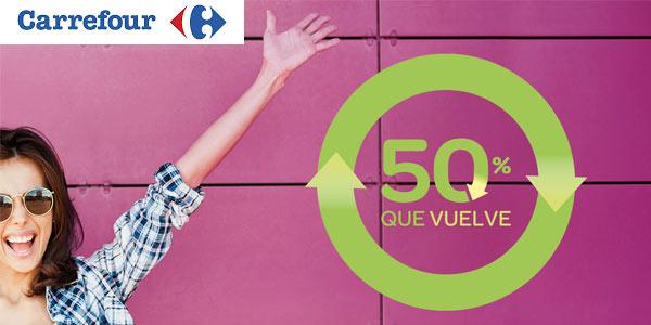 PRomoción Que vuelve Junio 50% de devolución en Carrefour