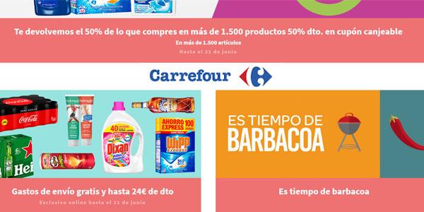 Promociones junio 2018 en Carrefour con devolución del 50% de tu compra