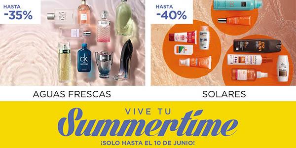 rebajas en Summertime El Corte Inglés con precios locos en hogar, moda y belleza