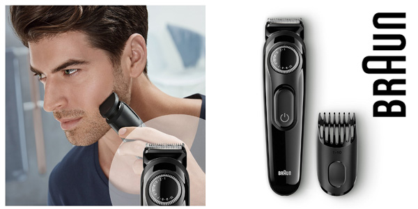 Recortadora de barba Braun BT3020 con 20 ajustes de longitud y recargable chollazo en Amazon