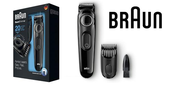 Recortadora de barba Braun BT3020 con 20 ajustes de longitud y recargable barata en Amazon