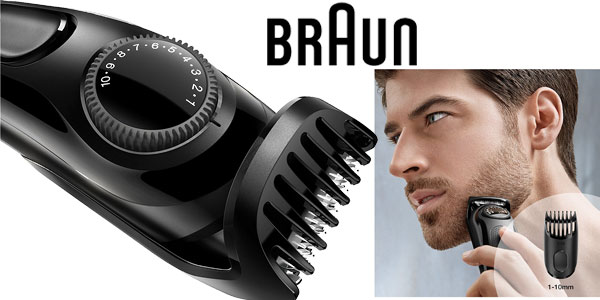 Recortadora de barba Braun BT3020 con 20 ajustes de longitud y recargable chollo en Amazon