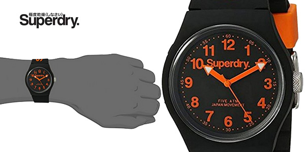 Reloj analógico Superdry SYG164B para hombre barato en Amazon