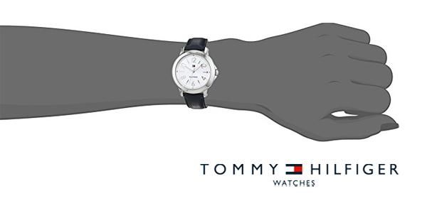 Reloj analógico Tommy Hilfiger 1781753 Ellie con correa de piel en color azul para mujer chollo en Amazon