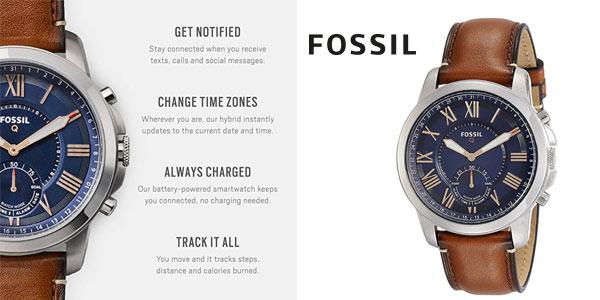 Smartwatch híbrido Fossil Q Grant barato en Amazon