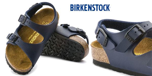 Sandalias Birkenstock Roma en color azul para niños chollo en Amazon