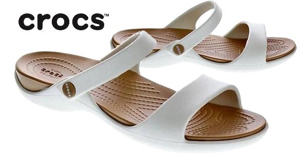 Sandalias Crocs Cleo V Wen color marfil para mujer chollo en La Redoute