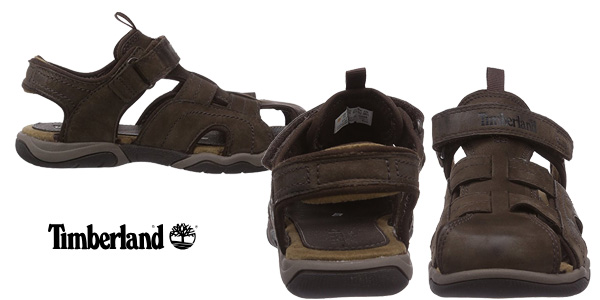 Sandalias de cuero Timberland Oak Bluffs Leather Fisherman para niños chollazo en Amazon