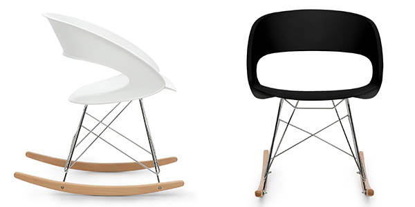 silla mecedora de estilo nórdico y diseño elegante en oferta