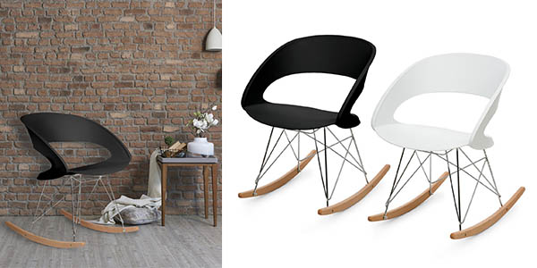 silla mecedora OneConcept Travolta de estilo retro barata