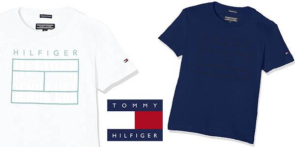 Tommy Hilfiger Ame Logo camiseta infantil barata