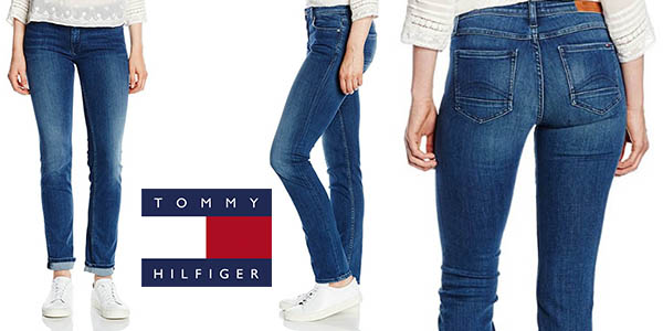 Tommy Hilfiger Mid Rise Straight Sandy Nmst vaqueros oferta