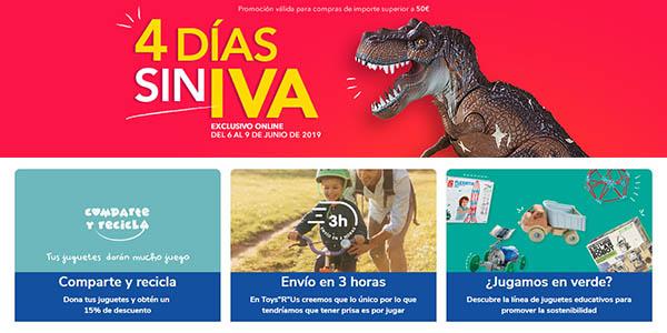 ToysRus promoción juguetes sin IVA 2019