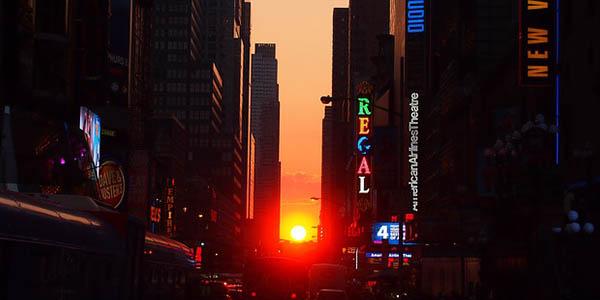 ver Manhattanhenge en Nueva York plan gratis