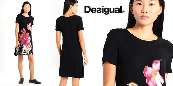 Vestido Desigual Aristo en color negro para mujer barato en Amazon