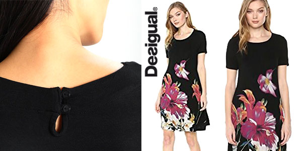 Vestido Desigual Aristo en color negro para mujer chollo en Amazon