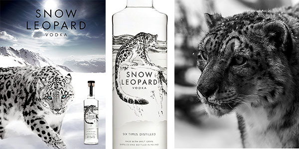 Vodka de espelta Snow Leopard de 700 ml en oferta