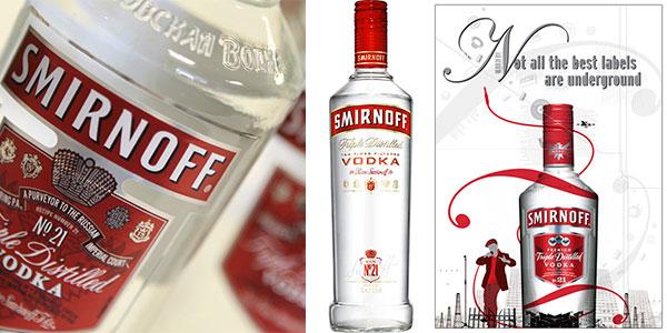 Vodka Smirnoff Red Label de 700 ml barato