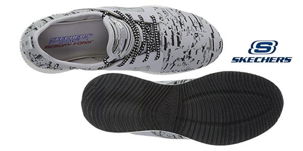 Zapatillas Skechers Bobs Squad-Double Dare para mujer chollo en Amazon