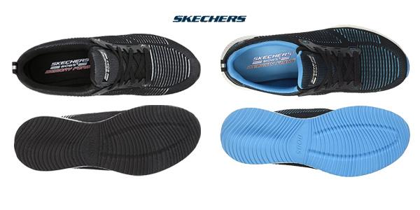 Zapatillas Skechers Bobs Squad-Twinning sin cordones para mujer chollo en Amazon
