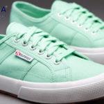 Zapatillas Superga 2750 COTU Classic en color verde para mujer baratas en Amazon
