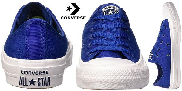 Zapatillas unisex Converse All Star Chuck Taylor II de color azul para adulto baratas