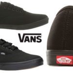 Zapatillas unisex de tipo skate Vans Authentic Lo Pro de color negro baratas