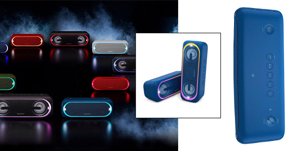 Altavoz Bluetooth Sony con luz estroboscópica y extra bass barato en Amazon