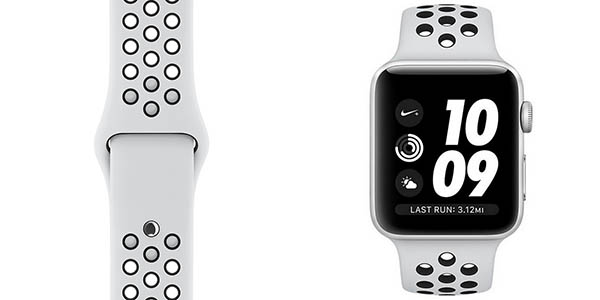Apple Watch 3 NIKE+ de 42 mm en color blanco