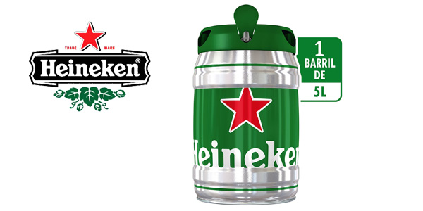 Barril de Cerveza Heineken Cerveza de 5 litros barato en Amazon