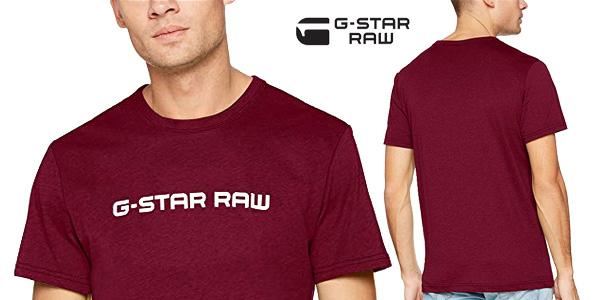 Camiseta G-STAR RAW Loaq de manga corta para hombre chollo en Amazon