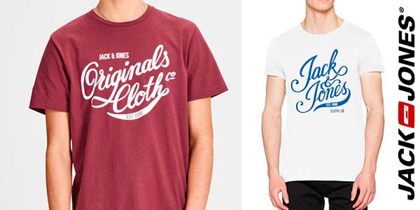 Camisetade manga corta Jack & Jones Originals Jorblog de algodón para hombre barata