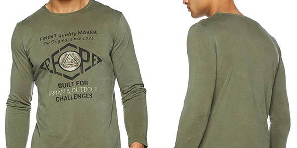 camiseta Pepe Jeans Basuki de manga larga y algodón oferta