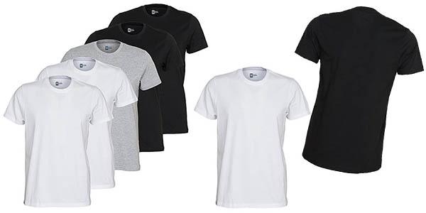 camisetas básicas de manga corta para hombre baratas