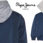 Chaqueta ligera Pepe Jeans Niko Jr en color azul ocean con capucha para niños barata en Amazon