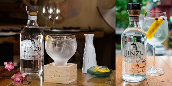 Chollo Botella de ginebra artesanal Jinzu con sake (700 ml)